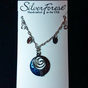 NWT Silver Forest Necklace